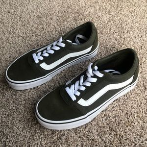 Vans Shoes - Vans Olive green suede